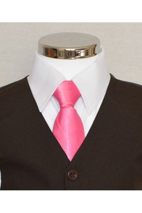 Cravate fushia satin