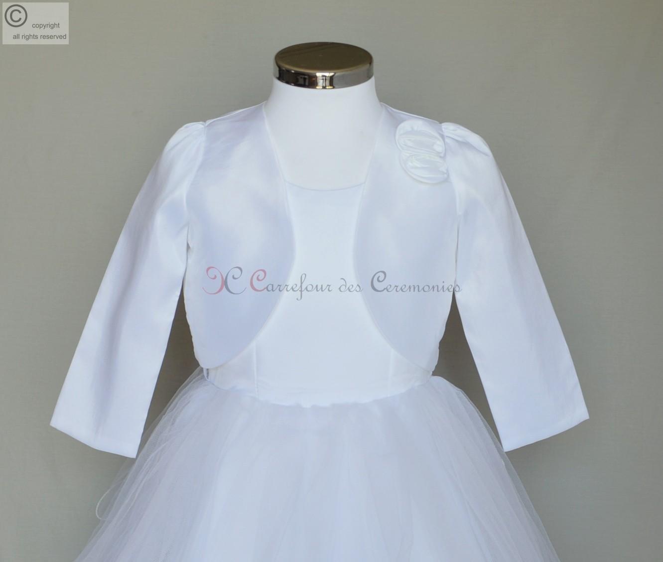 bolro enfant blanc faustine - Bolero Fillette Pour Mariage