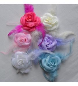 Elastique ou broche fleur
