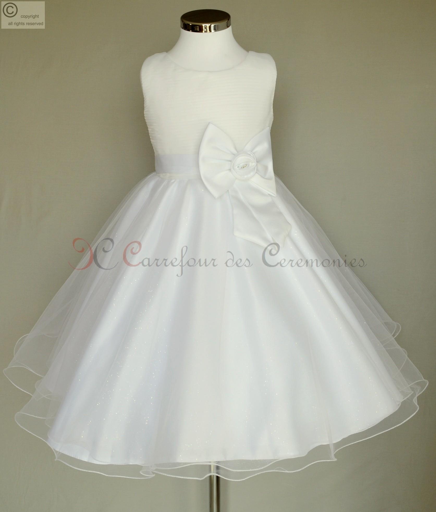 Robe blanche pour communion pas cher