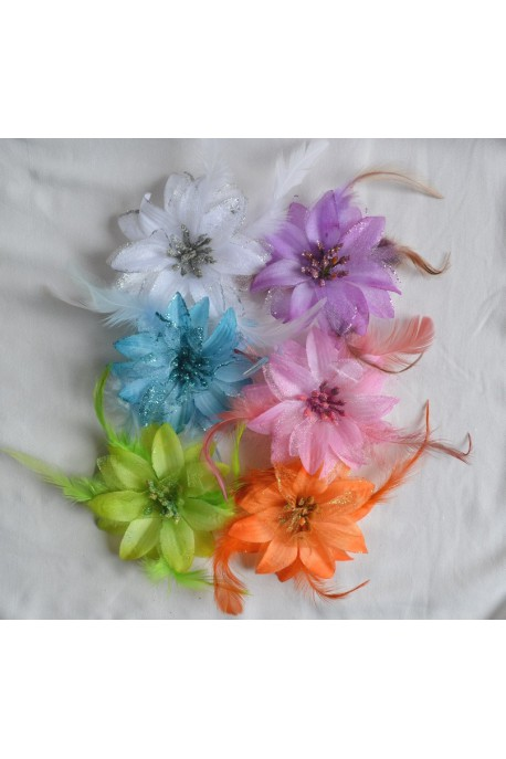 Elastique ou broche grande fleur