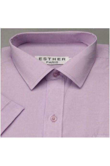 Chemise garçon parme clair rosé