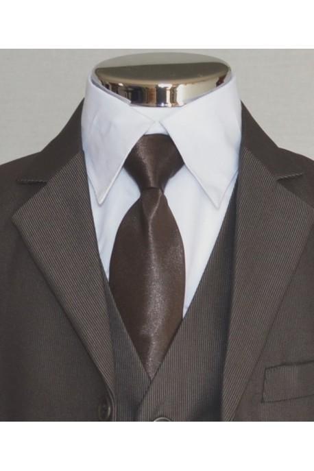 Cravate chocolat uni