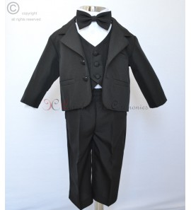 costume noir satin Brandon