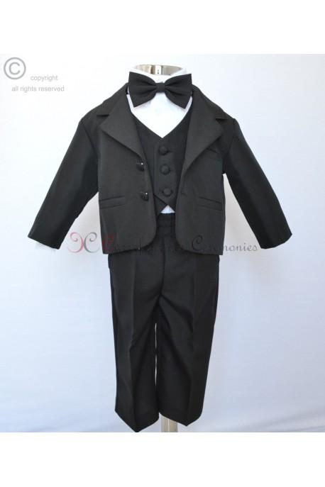 costume noir satin Brandon