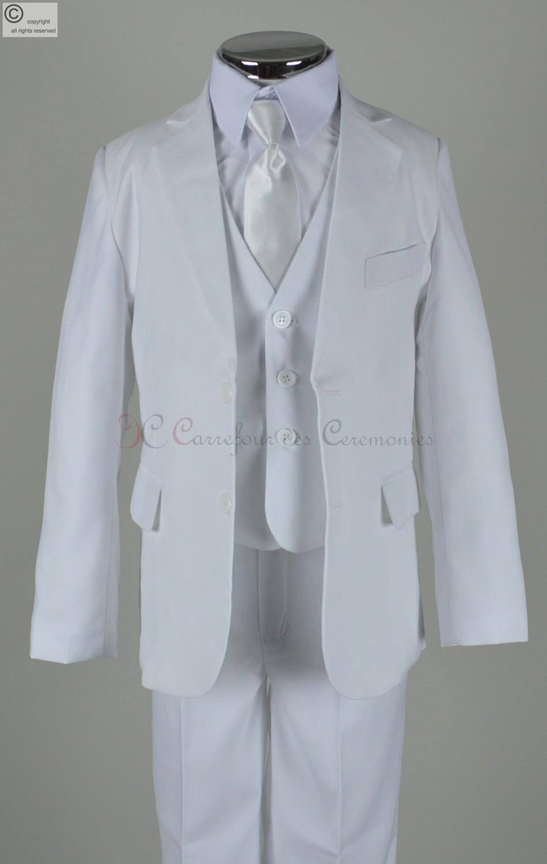 costume gar on blanc billy carrefour des ceremonies. Black Bedroom Furniture Sets. Home Design Ideas