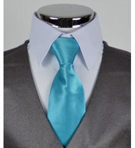 Cravate bleu turquoise