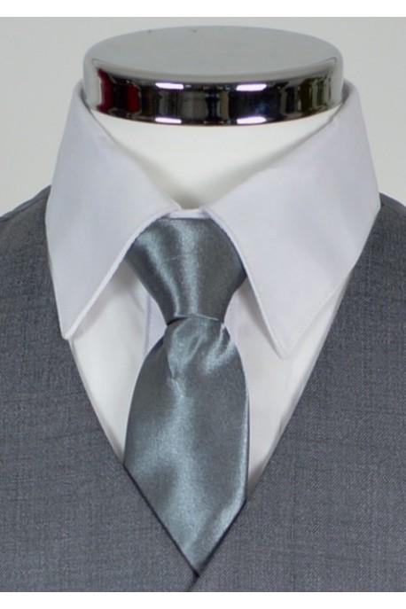 Cravate gris fonce
