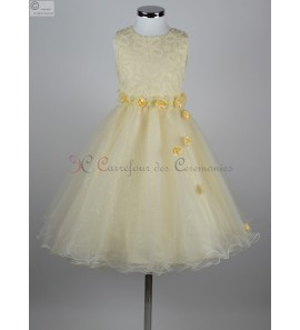 robe Fleur champagne