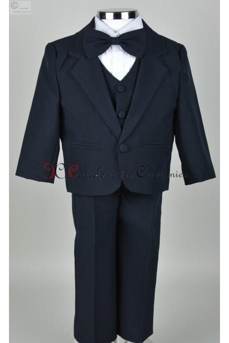 costume bebe bleu marine Bart