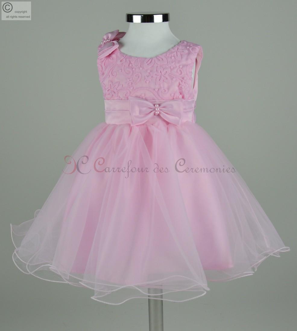 Robe couleur rose bebe