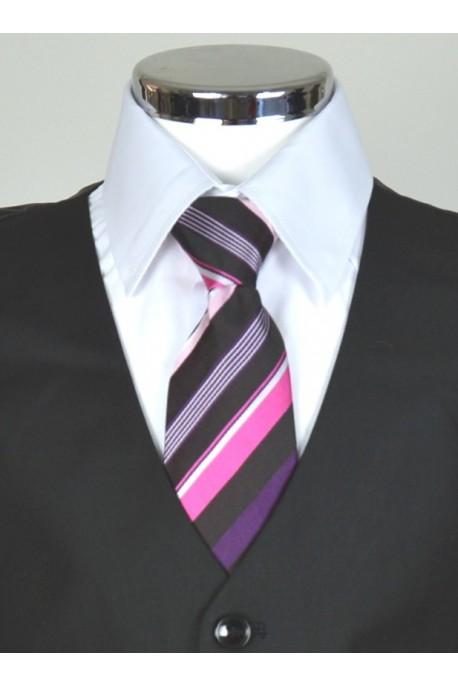 Cravate noir rayé