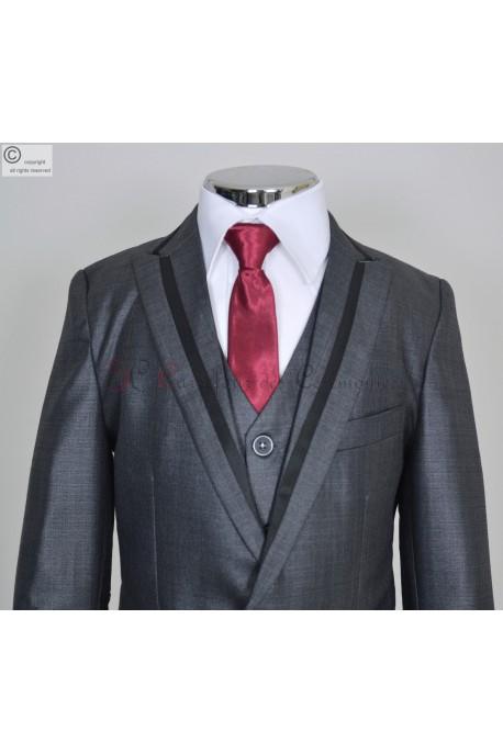 costume gris Valentin