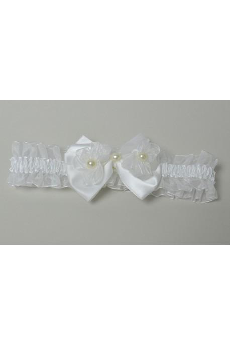 Bandeau blanc perle