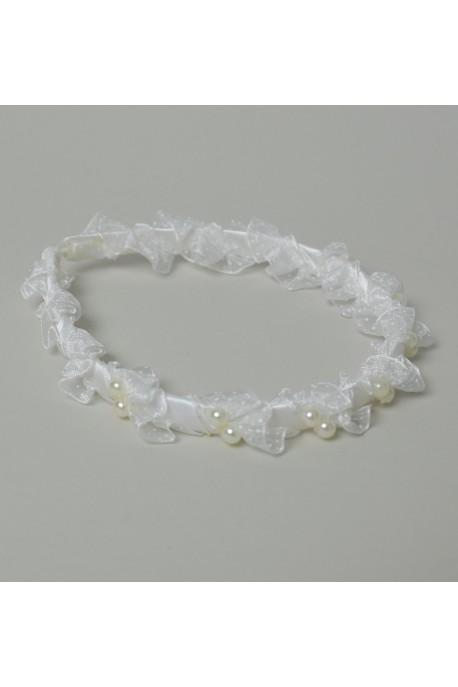 Serre tete blanc dble perle
