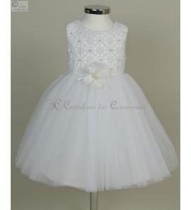 robe bébé blanche Roanna