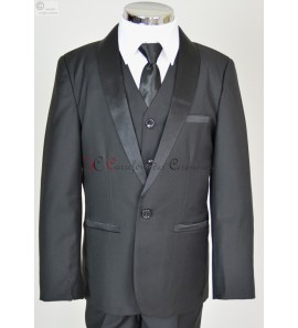costume noir col satin Albert