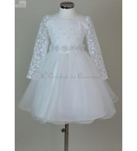 robe blanc communion Evelyne