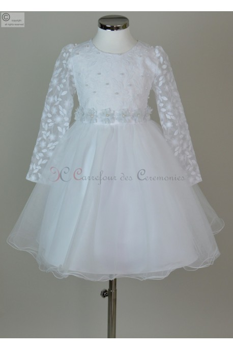 robe blanc communion Evelyne