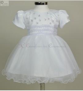 robe bebe blanche cendrillon