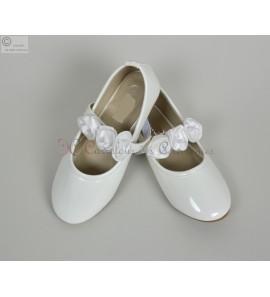 Chaussure ballerine ecru Dorothée