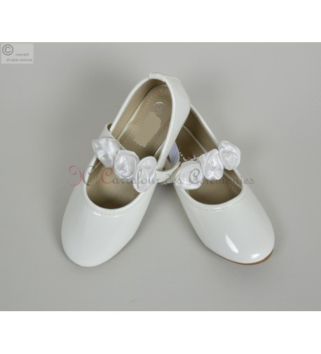 Chaussure ballerine ceremonie princesse blanche