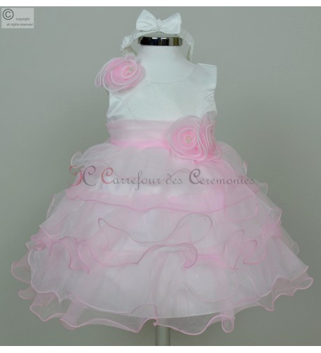 8bfe5ff5fd1fc Robe De Ceremonie Pour Bebe Mariage Rose