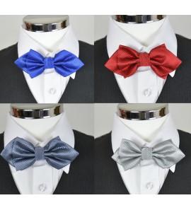 Noeud papillon Fashion Bleu, Bordeaux, Gris claire ou foncé