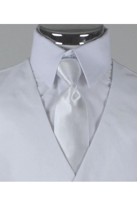 Cravate noir/blanc/bordeaux satin