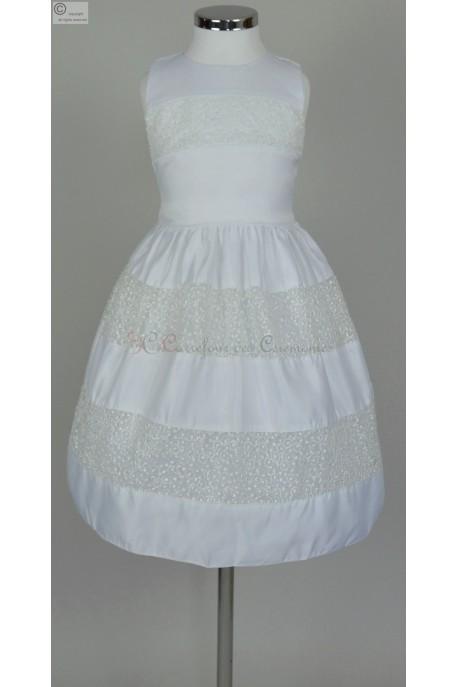 robe a petit prix blanche pour petite fille. Black Bedroom Furniture Sets. Home Design Ideas