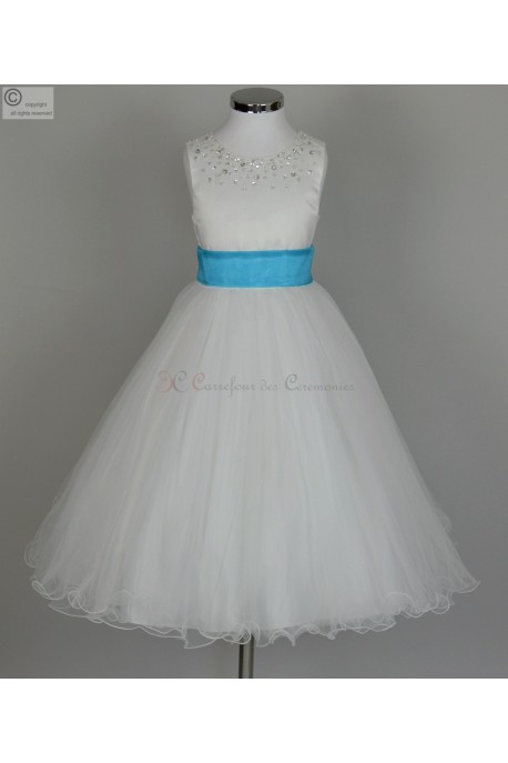 robe turquoise fille Zelie