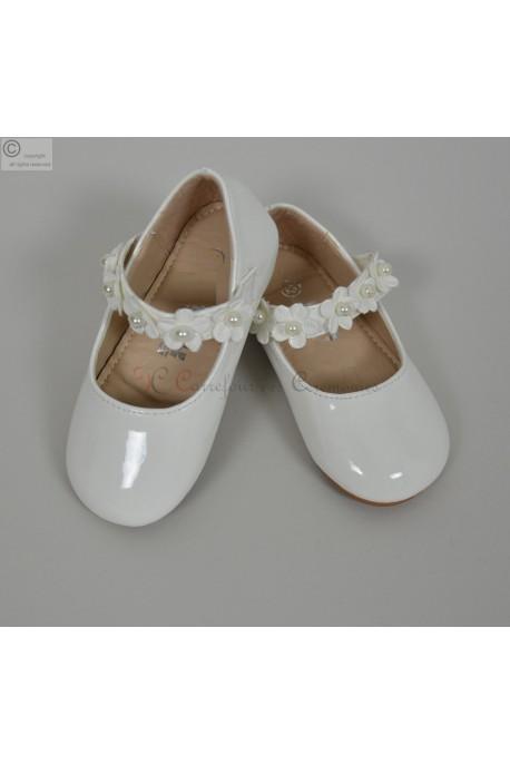 Ballerine ecru bebe frederique