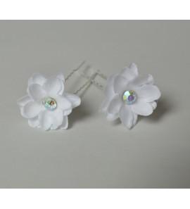 Lot 2 pics fleur blanche