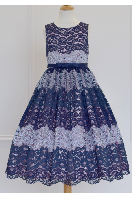 robe longue bleu marine Raiponce