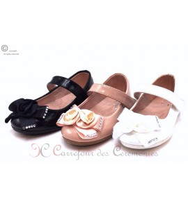 Chaussure Cloé Blanche/Noire/Rose