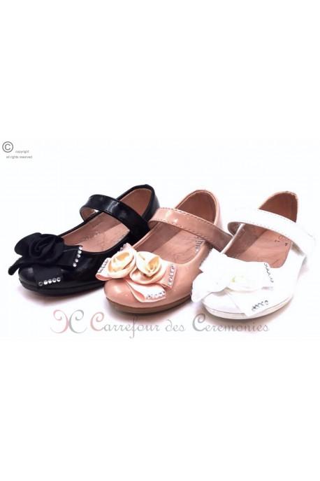 Chaussure Cloé Blanc noir rose