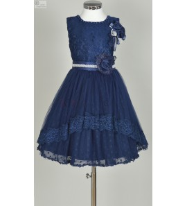 robe bleu marine Apolline
