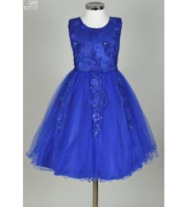 Robe bleu roy Lola