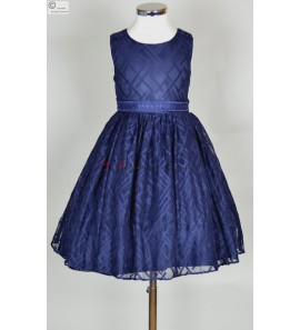 robe ceremonie fille bleu Alida
