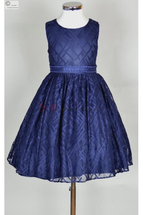 robe ceremonie fille bleu Alida