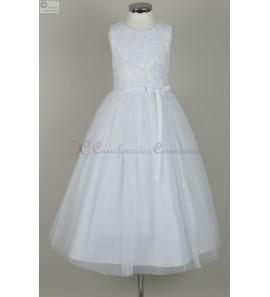robe blanche enfant Anaïs