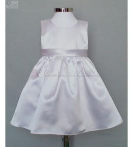 robe blanche bebe 3/6M Emilie