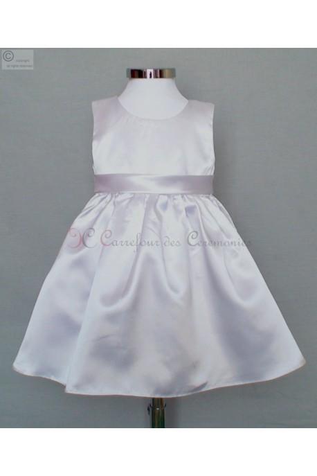 062500756872c Fin de stock robe blanche bebe Emilie
