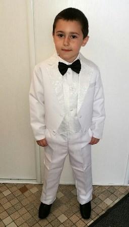 costume queue de pie blanc