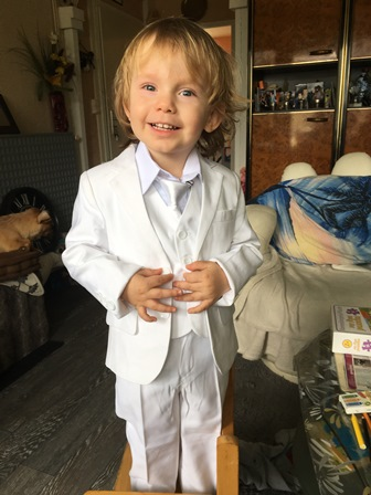 Costume garçon blanc