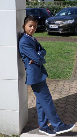 costume classe bleu roi