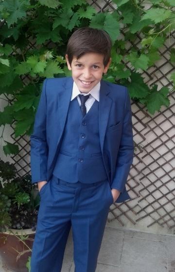 costume bleu roi alexandre