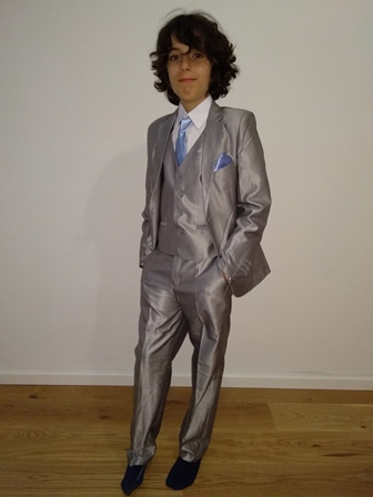 costume arnaud gris