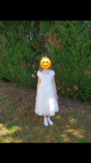 robe communion blanche josephine