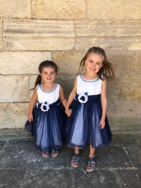 robe bleu de ceremonie